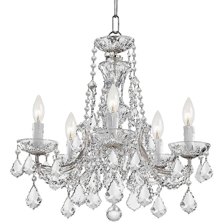 "Maria Theresa 20"" Wide Polished Nickel 5-Light Chandelier"