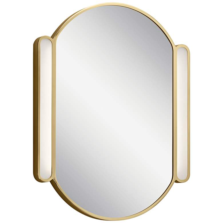 "Phaelan Champagne Gold 23 1/4"" x 29 3/4"" LED Wall Mirror"
