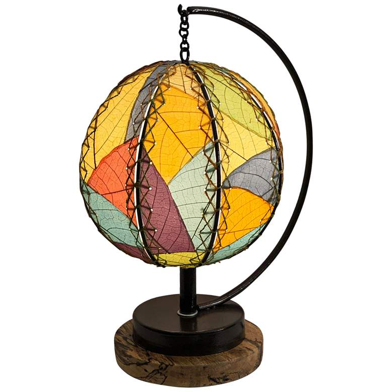 "Eangee Pendulum 14"" High Multi-Color Orb Accent Table"