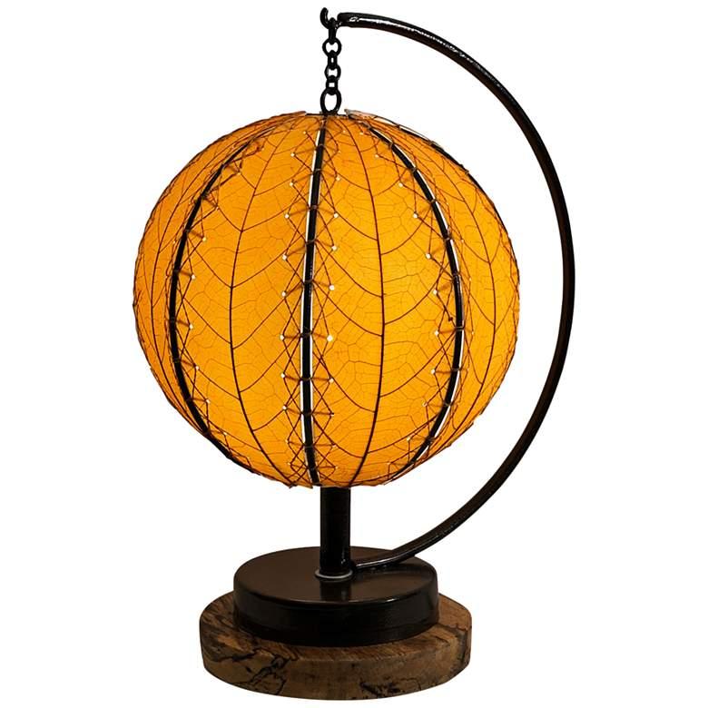 "Eangee Pendulum 14"" High Orange Orb Accent Table"