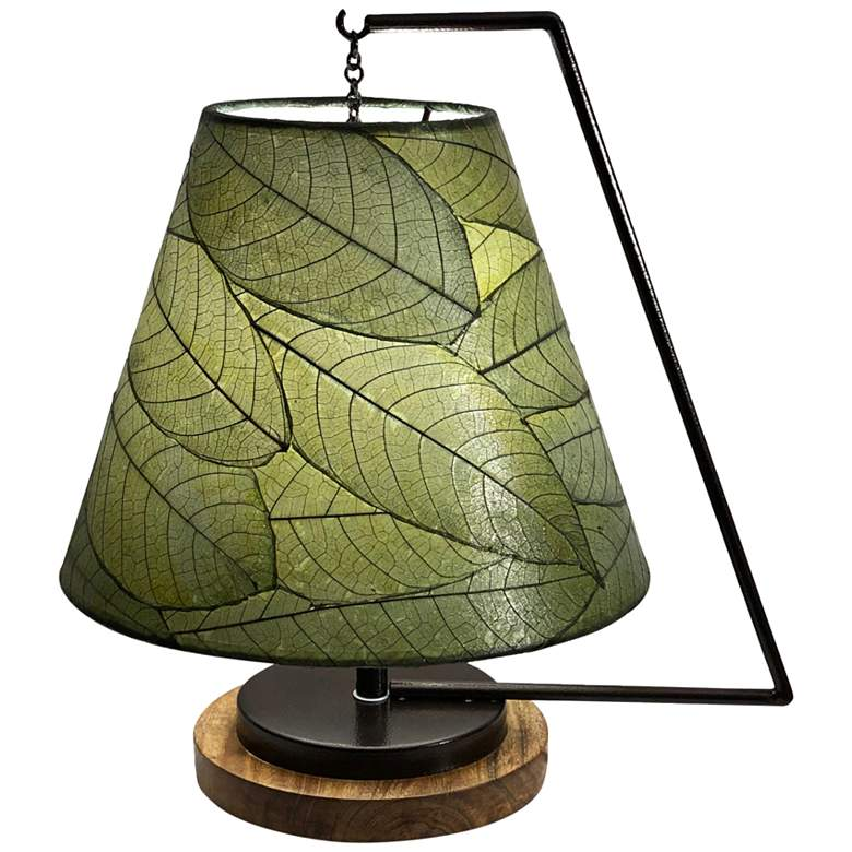 """Eangee Pendulum 17"""" High Green Accent Table Lamp"""