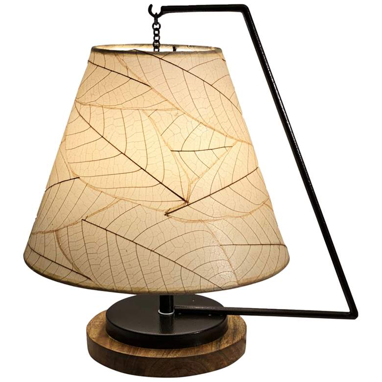 """Eangee Pendulum 17"""" High Natural Accent Table Lamp"""