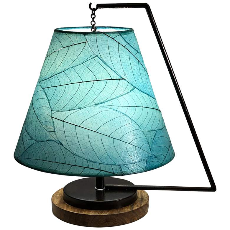"Eangee Pendulum 17"" High Sea Blue Accent Table"