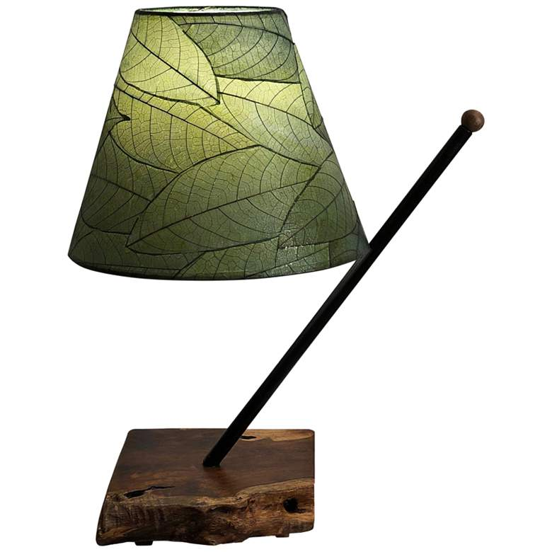 Eangee Polearm Green Cocoa Leaves Accent Table Lamp