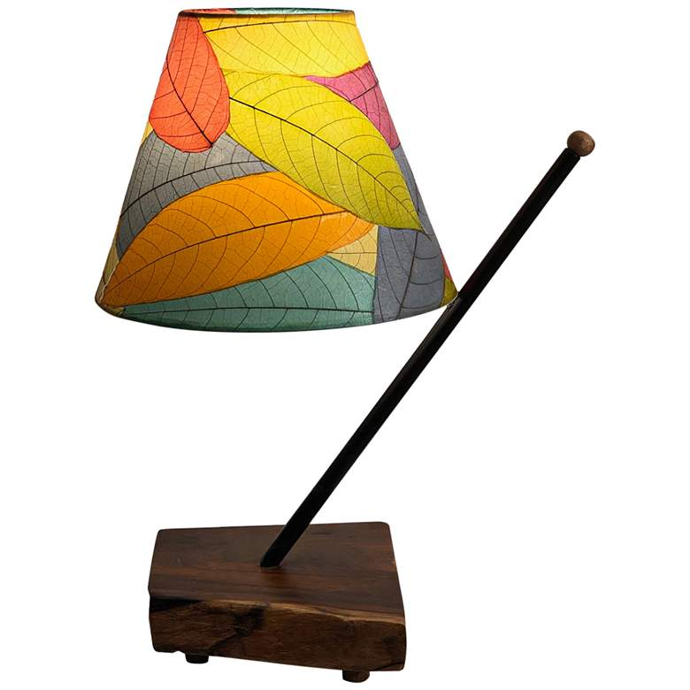Eangee Polearm Multi-Color Leaves Accent Table Lamp