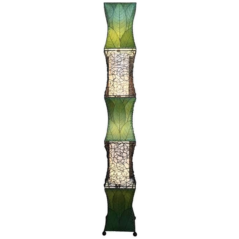 Eangee Pagoda Green Cocoa Leaves Wave-Like Floor Lamp