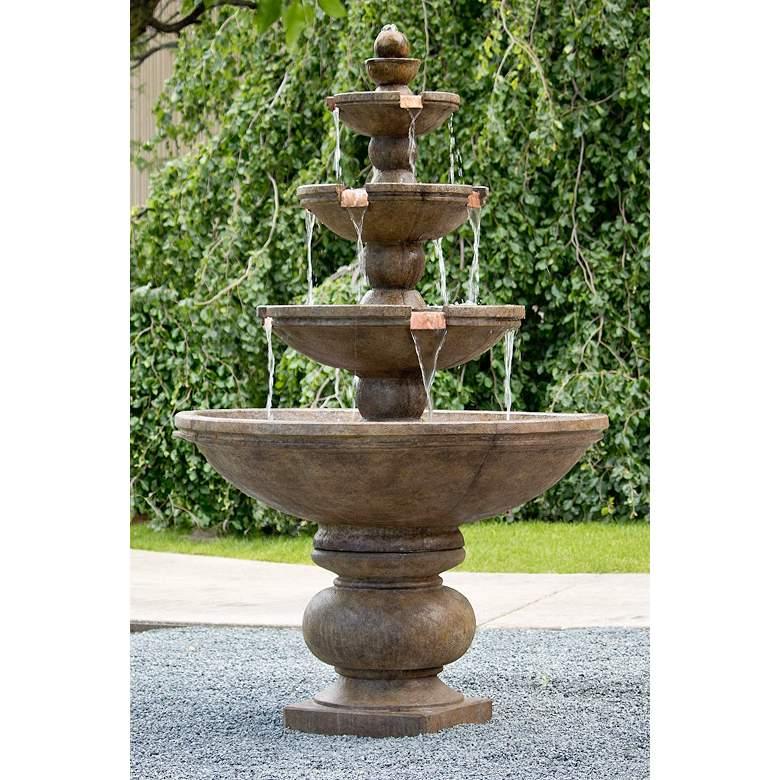 """Buckingham 78"""" High Relic Lava 4-Tier Outdoor Floor Fountain"""