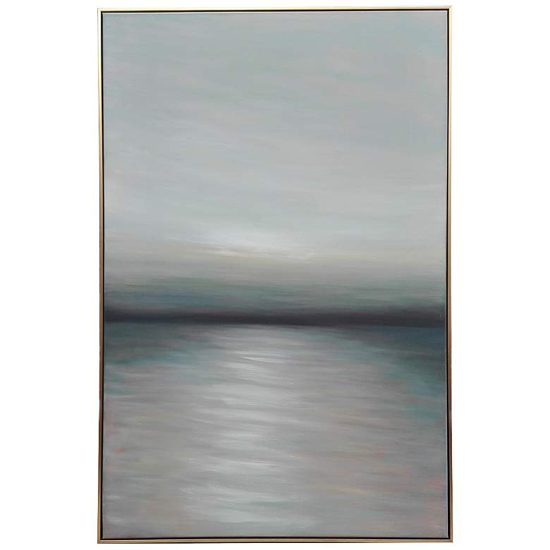 """Crestview Collection Bottom Up 60""""H Framed Canvas Wall"""