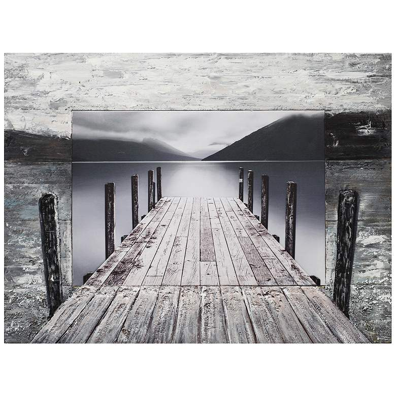 "Crestview Collection Walkway 40"" Wide Wooden Wall Art"
