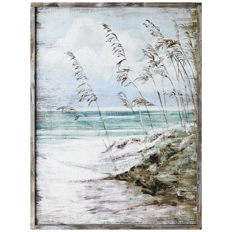 "Crestview Collection Easy Walk 40""H Framed Wooden Wall Art"