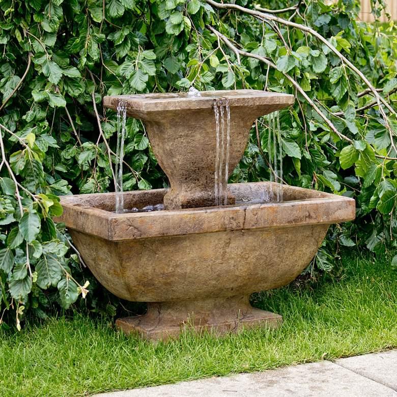 """Henri Studio Terrazza 24""""H Relic Lava LED Outdoor Fountain"""