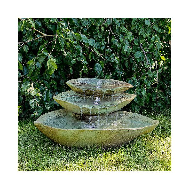 "Cascading Leaf 15"" High Relic Sargasso LED Outdoor"