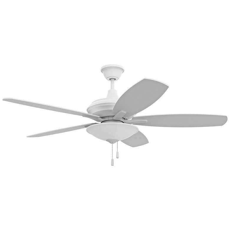 "52"" Craftmade Jamison White LED Ceiling Fan"