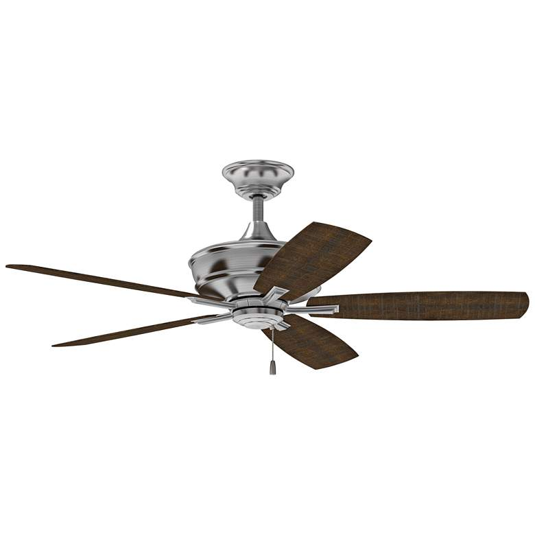 "56"" Craftmade Sloan Brushed Polished Nickel Ceiling Fan"