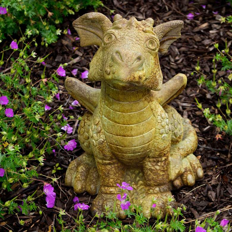 """Piper the Sitting Dragon 14 1/4"""" High Relic Sargasso Statue"""