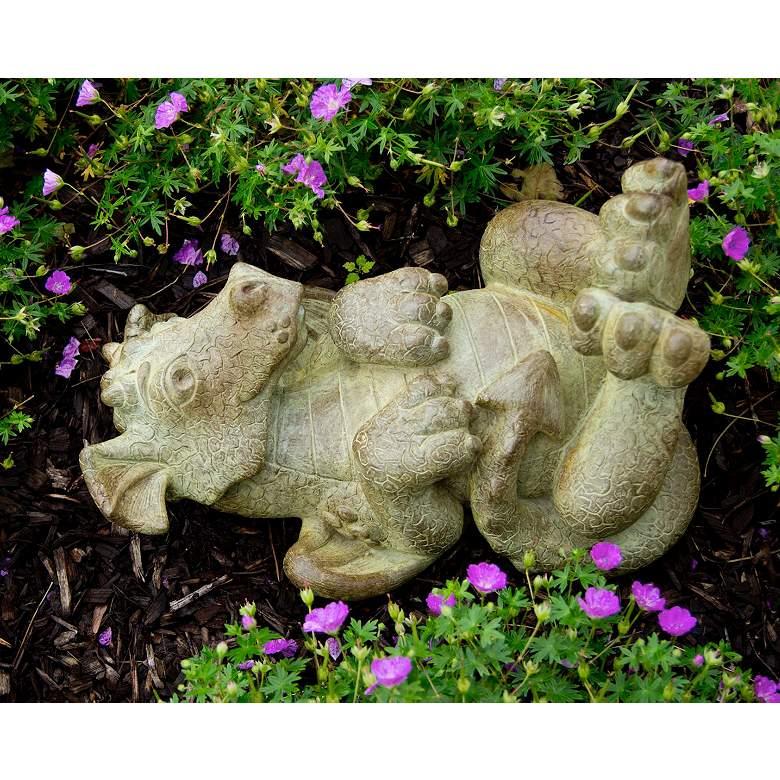 """Tanner the Ticklish Dragon 17""""W Relic Sargasso Garden Statue"""