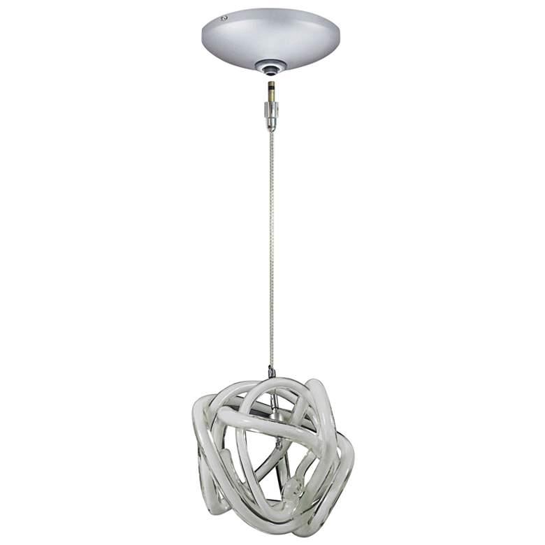 """Jesco Envisage VI 6"""" Wide White Glass Mini Pendant"""