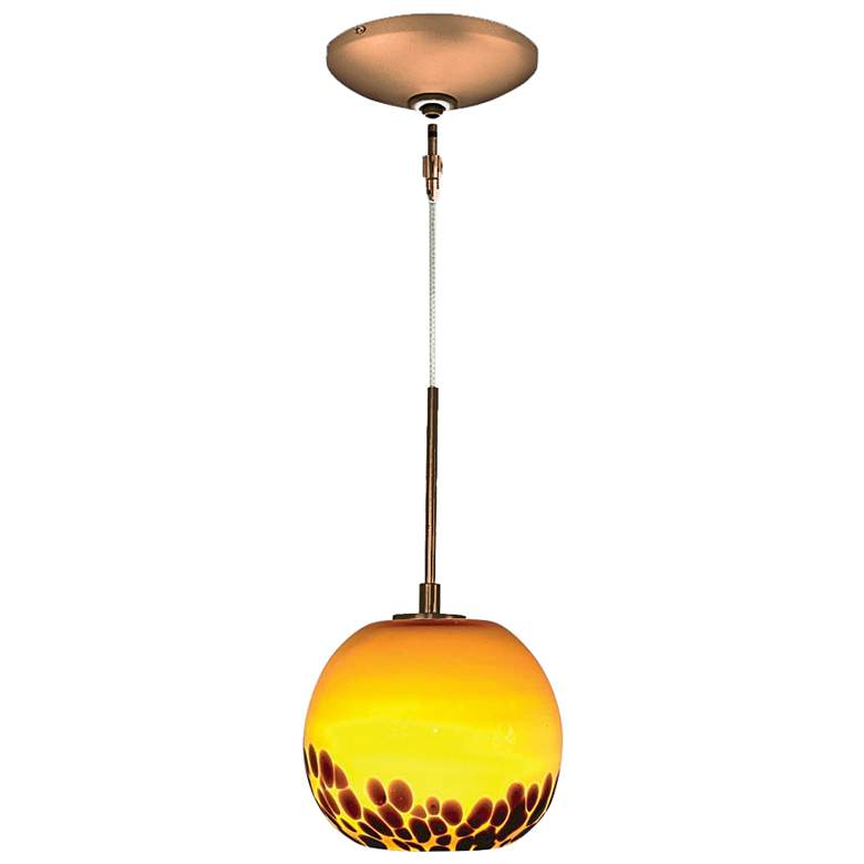 "Jesco Envisage VI 5 1/2""W Amber Spherical Glass"