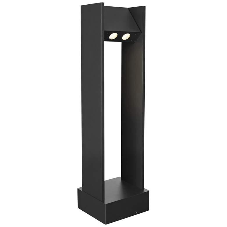 "Tech Lighting Zur 30"" High Black LED Landscape Bollard Light"