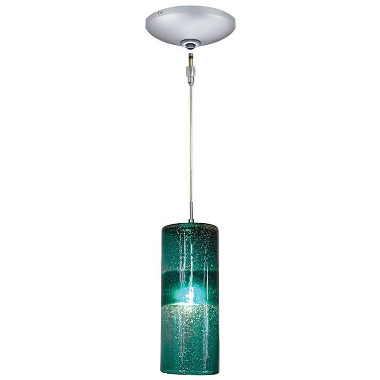 "Jesco Envisage VI 4 3/4""W Teal Cylinder Glass"