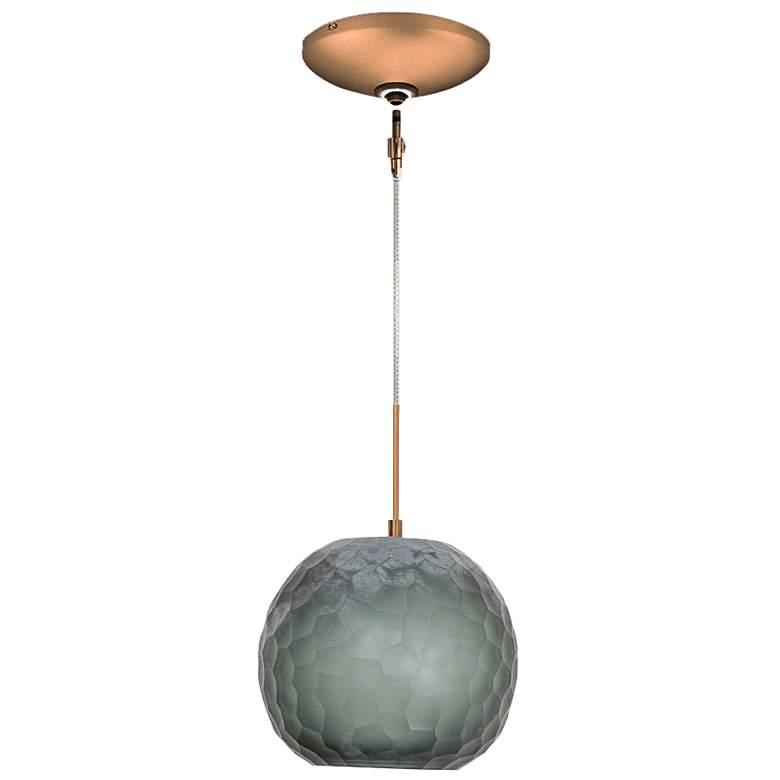 """Jesco Envisage VI 8"""" Wide Smoke Sphere Glass Mini Pendant"""
