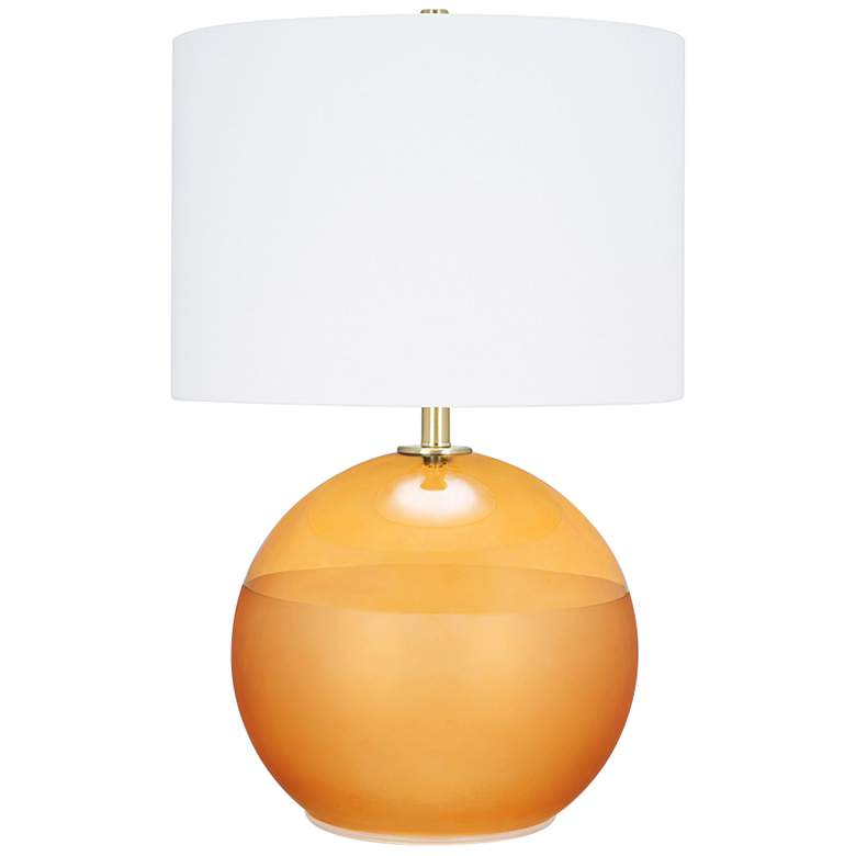 Rory Amber Hue and Matte Frost Sphere LED Table Lamp