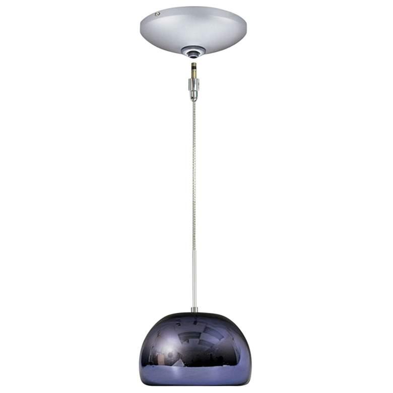 "Jesco Envisage VI 6"" Wide Purple Bowl Glass Mini Pendant"