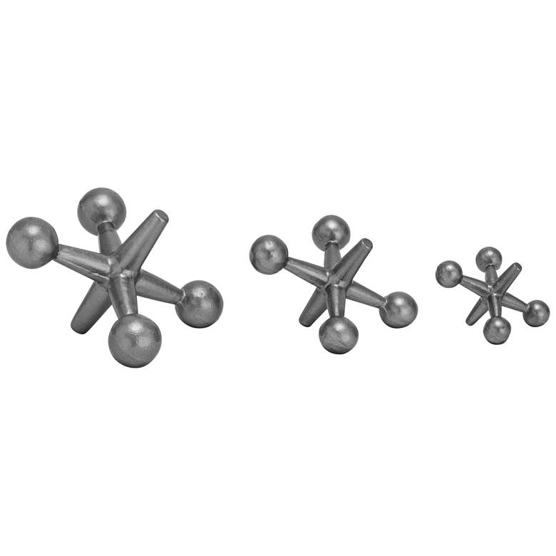 Game of Jacks Industrial Metal Decor Accents - Set of 3