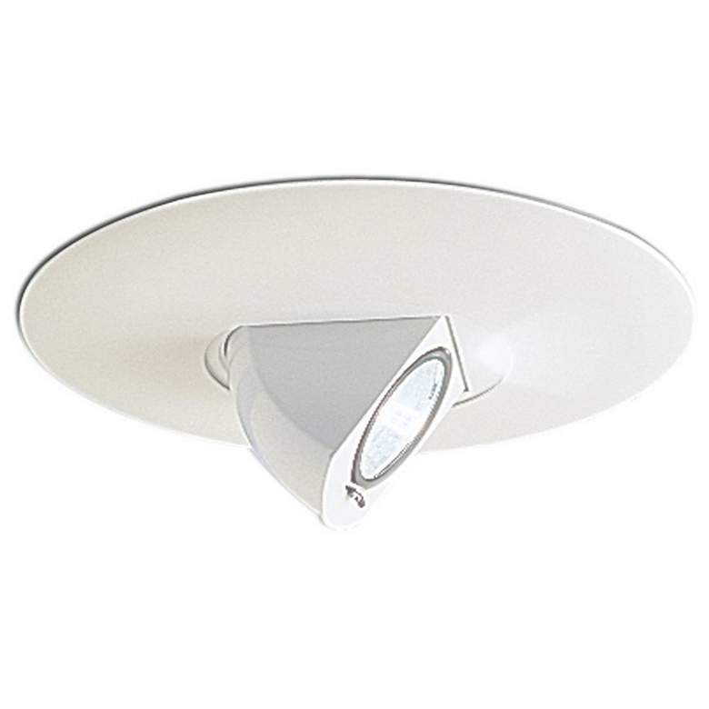 "Nora 6"" White Adjustable Angle Recessed Light Trim"