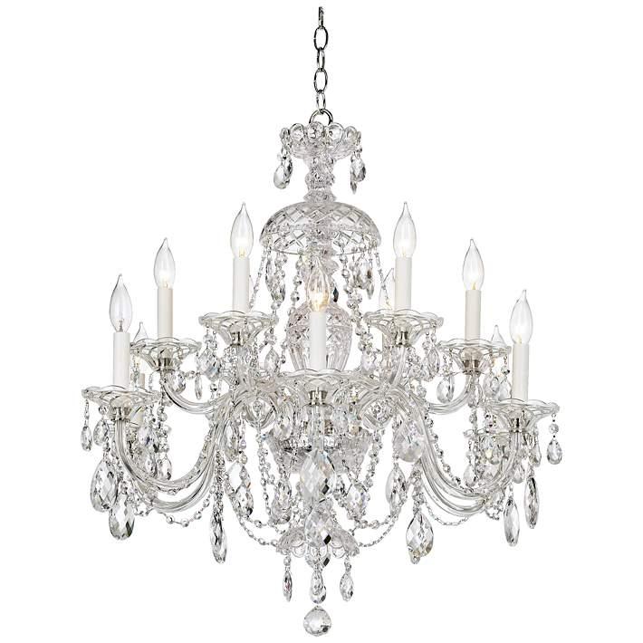 Schonbek Sterling 29 W Heritage Crystal, Schonbek 12 Light Crystal Chandelier