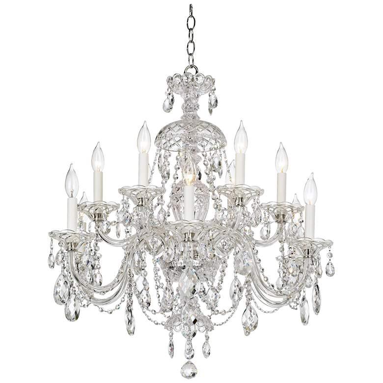 """Schonbek Sterling 29""""W Heritage Crystal 12-Light Chandelier"""