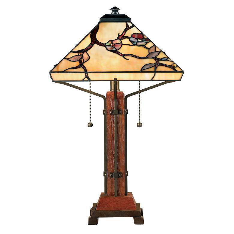 Quoizel Grove Park Tiffany-Style Table Lamp