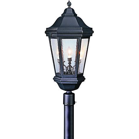 """Verona 34"""" High Outdoor Matte Black Post Light"""