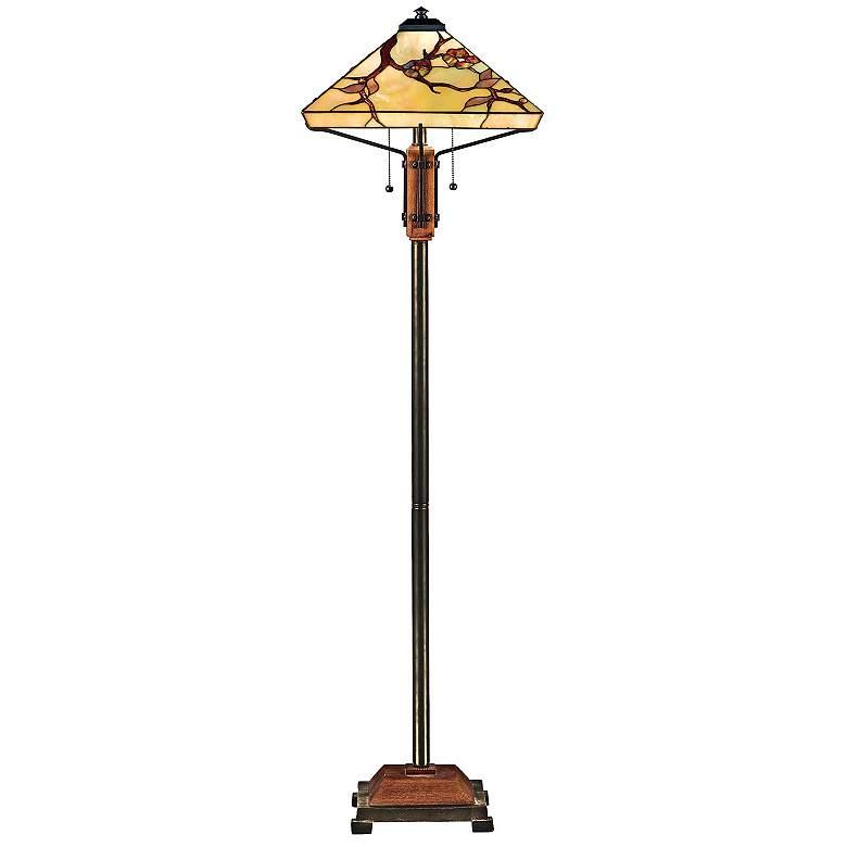 Quoizel Grove Park Tiffany-Style Floor Lamp