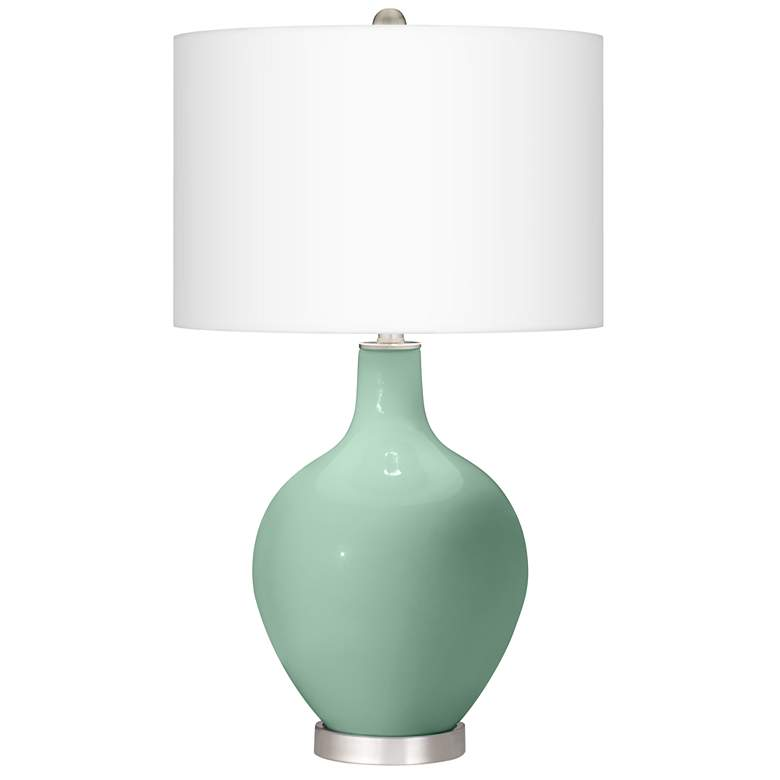 Grayed Jade Ovo Table Lamp With Dimmer