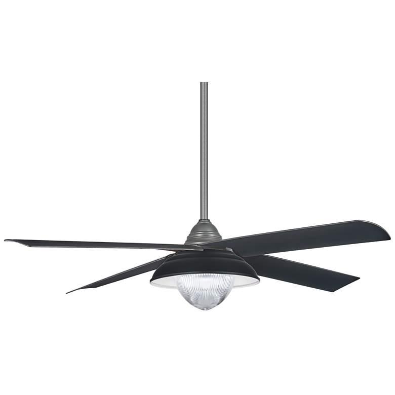 "56"" Minka Aire Shade Gray Iron LED Outdoor Ceiling Fan"