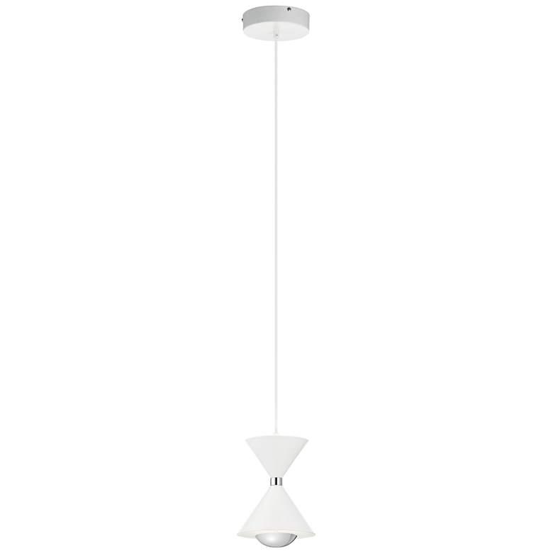 """Elan Kordan 6 1/4"""" Wide Matte White LED Mini Pendant"""