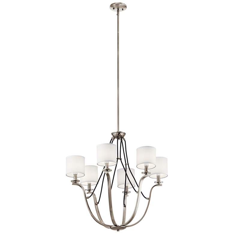 """Kichler Thisbe 27 1/2""""W Classic Pewter 6-Light Chandelier"""