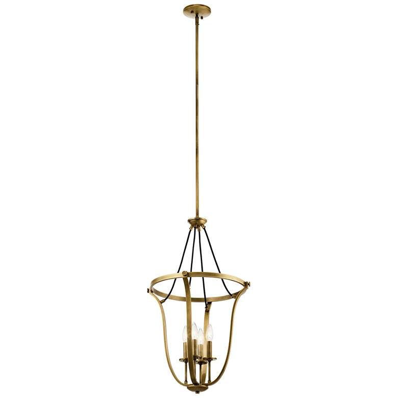 "Kichler Thisbe 17 1/2""W Natural Brass 4-Light Foyer Pendant"