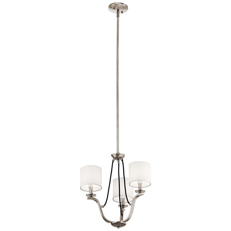 """Kichler Thisbe 18"""" Wide Classic Pewter 3-Light Chandelier"""