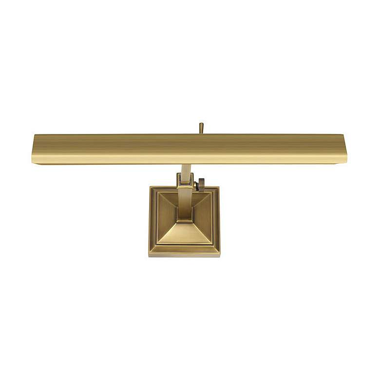 "dweLED Hemmingway 14"" Wide Burnished Brass LED Picture Light"