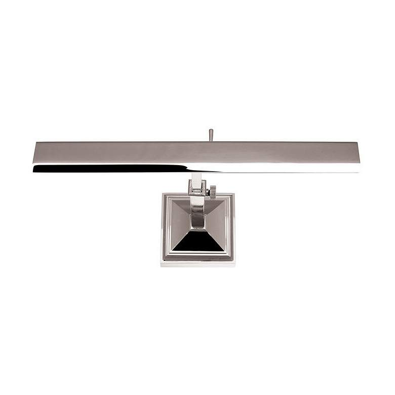 "dweLED Hemmingway 14"" Wide Polished Nickel LED Picture Light"