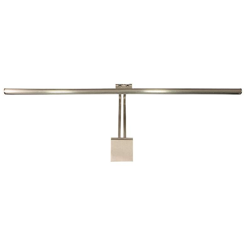 """LEDme Vibe 37""""W Brushed Nickel Direct Wire LED Picture Light"""