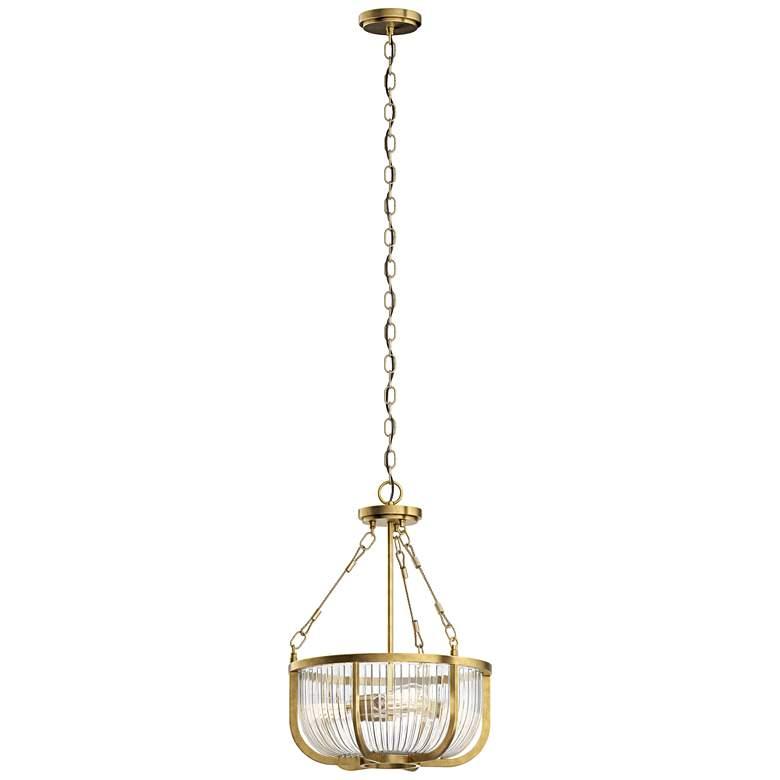 "Kichler Roux 16"" Wide Natural Brass 3-Light Bowl Pendant"