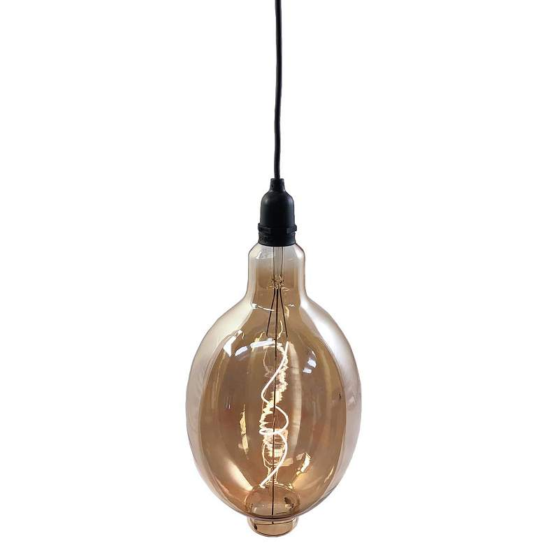 RetroEssence™ Amber Glass Battery LED Oval Bulb
