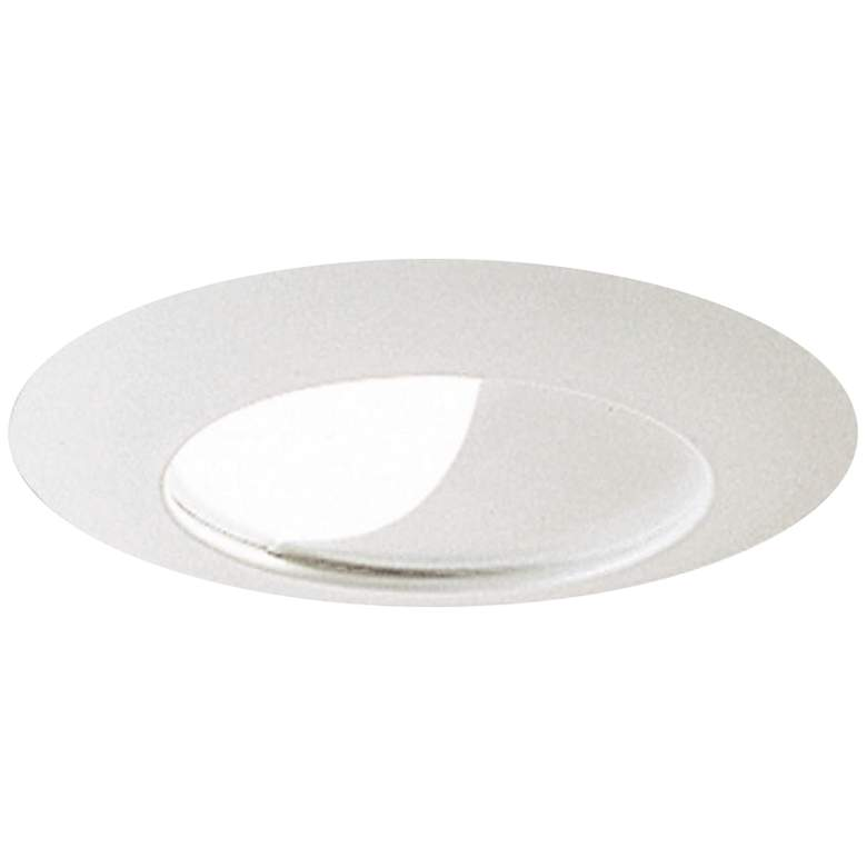 """Nora 6"""" Half Moon White Wall Wash Trim With Reflector"""