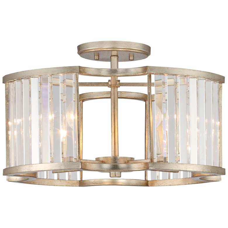 "Crystorama Darcy 18"" Wide Distressed Twilight Ceiling Light"