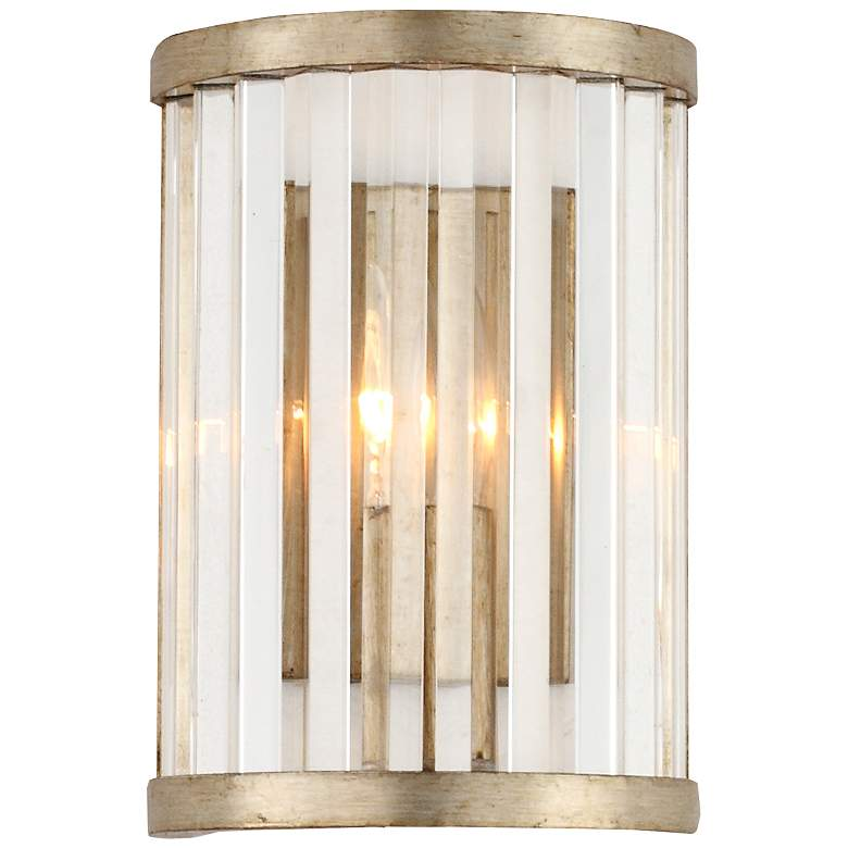 """Crystorama Darcy 10"""" High Distressed Twilight Wall Sconce"""