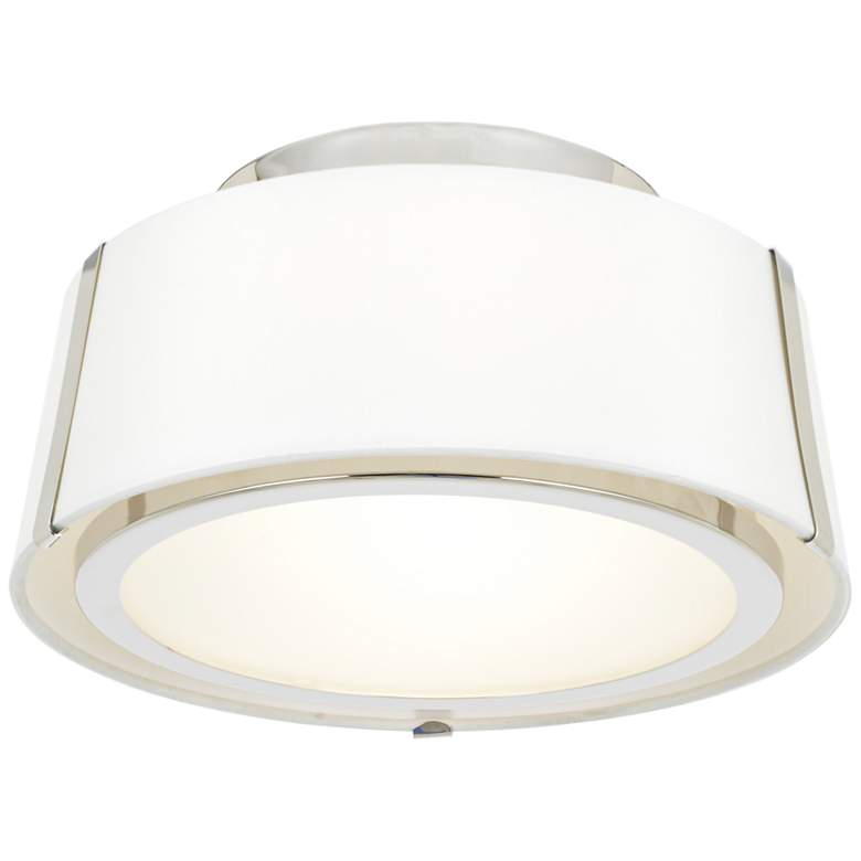 "Crystorama Fulton 12"" Wide Polished Nickel Ceiling Light"