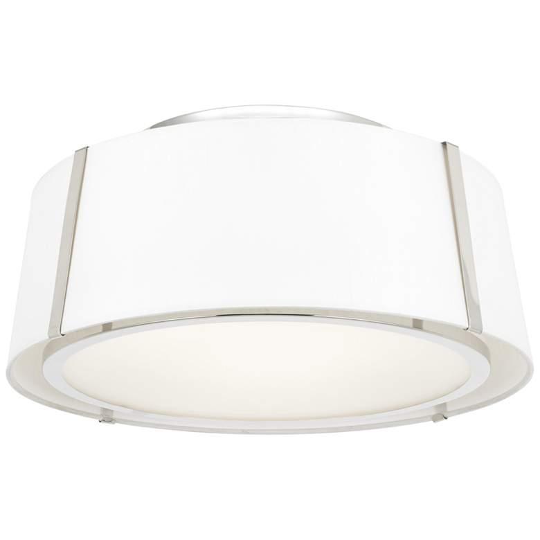"Crystorama Fulton 18"" Wide Polished Nickel Ceiling Light"